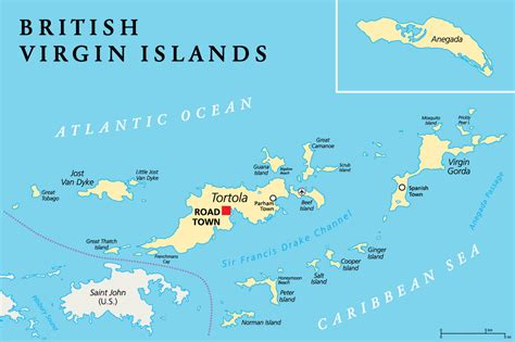 map of bvi sailing in the bvi islands map