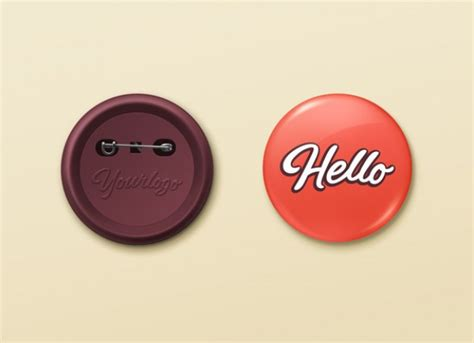button template psd pin buttons mockup psd template psd file free
