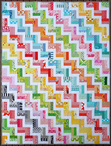 rainbow zig zag quilt pattern red pepper quilts zig zag rail fence quilt and new quilt