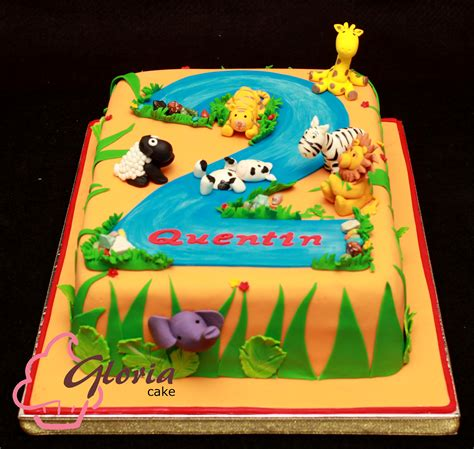Jungle Themed Birthday Cake | jungle theme birthday cake gloria cake