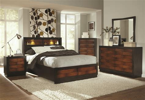 two tone bedroom furniture rolwing 6 piece bedroom set in two tone finish by coaster