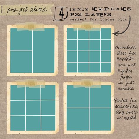 Digital Project Life Layouts Free Project Life Pinterest Digital Project Life Project Digital Project Plan Template
