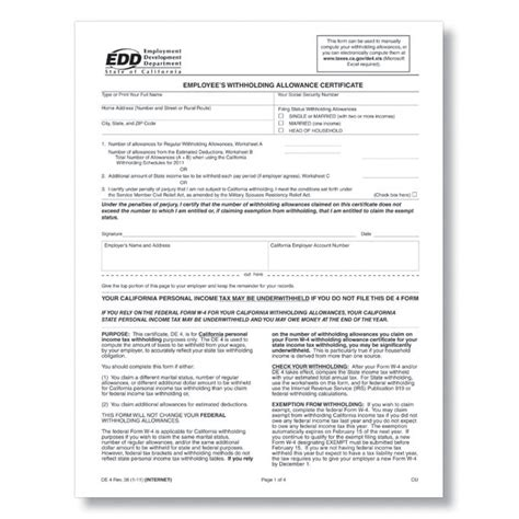 printable va w 4 state w 4 forms state tax withholding forms