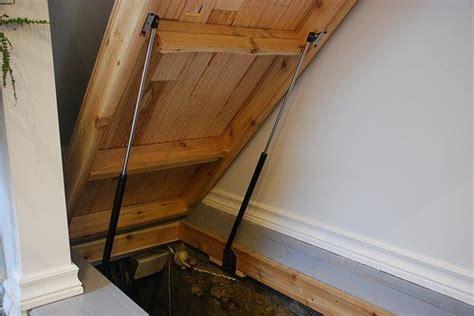 secret floor hatch door basement need this for the bungalow note struts to assist