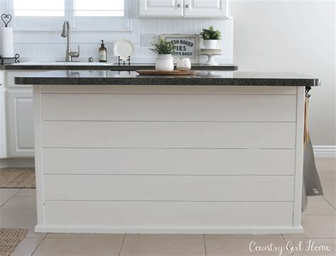 Shiplap On Kitchen Island Country Home Kitchen Island Planking And Paint Makeover