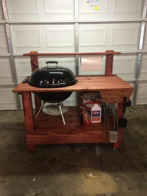 Diy Grill Table by Build A Barbecue Grill Table Diy Projects For Everyone