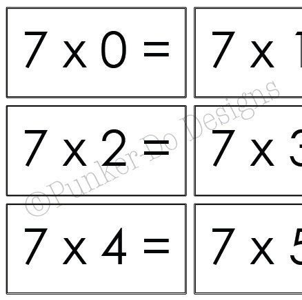 printable flash cards multiplication 1 12 multiplication math flash cards 1x 12x by punkerdodesigns