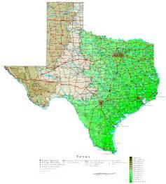map of texa contour map