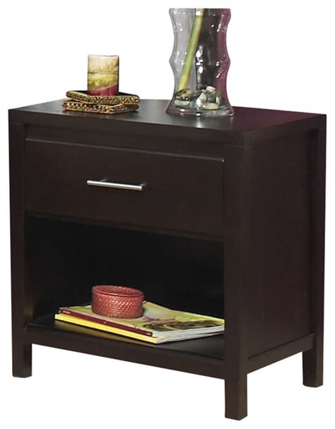 modus nevis charging station nightstand in espresso modus nevis 1 drawer nightstand in espresso modern