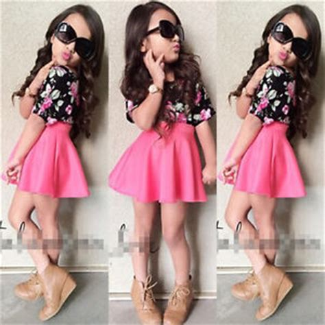 21543 Casual Two Pcs S by 2pcs Casual Clothes Floral T Shirt Tops Skirts