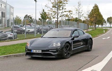 porsche electric mission e porsche mission e electric sedan photographed for the