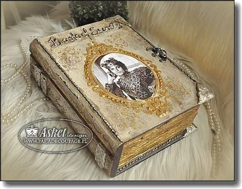 Decoupage Book Cover - 413 jpg decoupage book boxes notebook libros