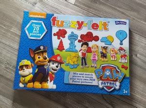 Mainan Edukasi Fuzzy With 20 Felt Play Pieces And 5 Playscenes paw patrol fuzzy felt review by baby