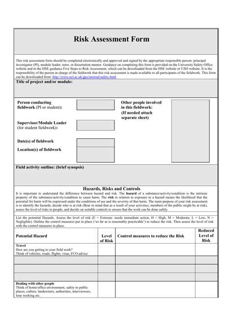 student risk assessment template student risk assessment template gallery template design