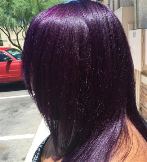 black with purple colour in their hair 50 stylish dark purple hair color ideas destined to