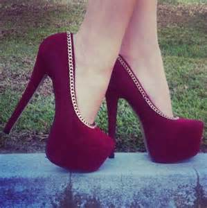maroon color heels shoes burgundy heels chain burgundy shoes velvet shoes