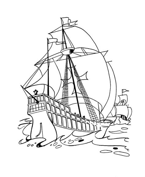 Usa Printables Columbus Day Coloring Pages 4 Imagenes De Columbus Day For Coloring