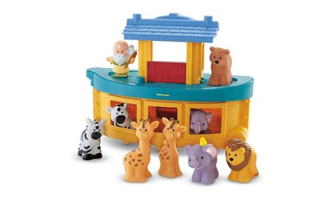 noah s ark boat with animals fisher price little people noah s ark playset boat with