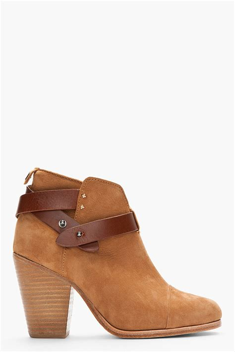 rag and bone boots rag bone nubuck leatherstrap harrow ankle boots in