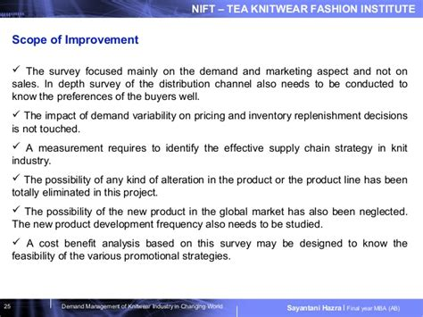 Mba In Fashion Management Scope by Demand Management Of Knitwear Industry In Changing World