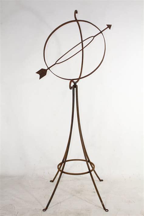 Wrought Iron Stand Wrought Iron Gazing Stand W Sundial Design