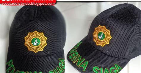Topi Siaga Bordir 1 topi pembina pramuka siaga bahan jaring kedai atribut perlengkapan pramuka
