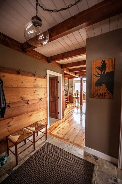 home decor floor ls moose ridge lodge post and beam rustic entry other metro by yankee barn homes
