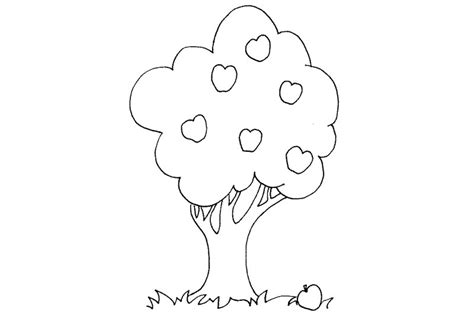 free coloring pages of apple tree