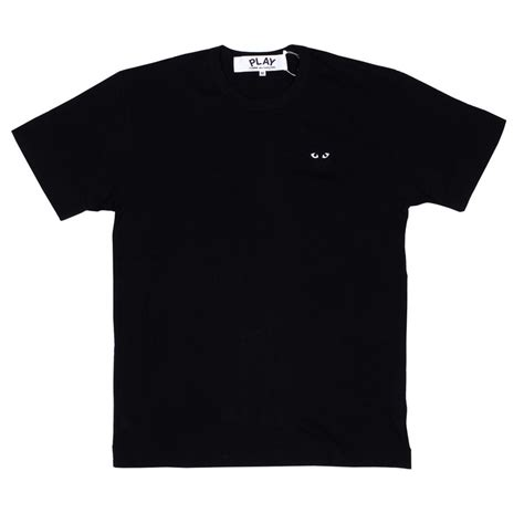 Tshirt Kaos Play Cdg 3 cdg play mens t shirt black play s