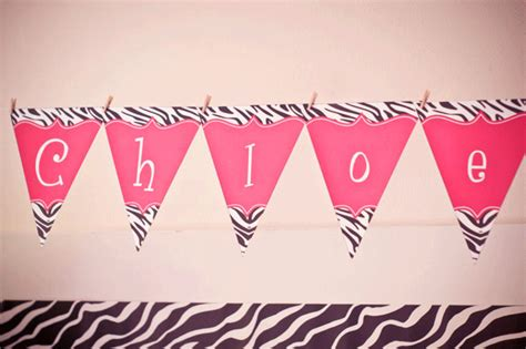 free printable zebra birthday banner 6 best images of create banner printable chloe zebra