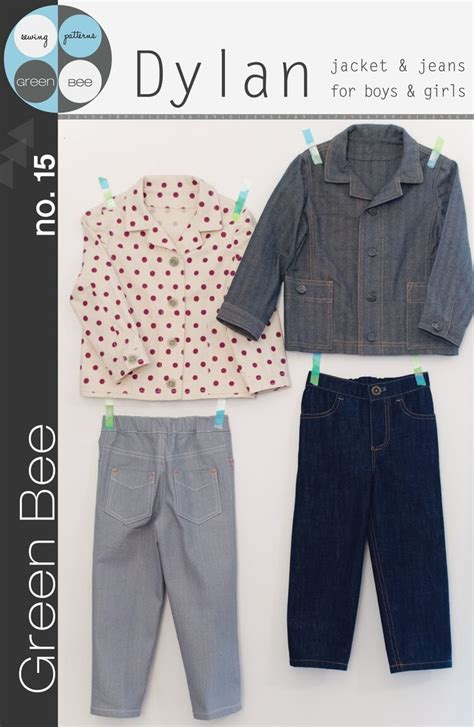 sewing pattern jeans jacket dylan jacket jeans for boys or girls sewing pattern