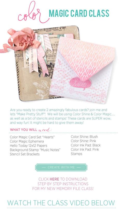 tutorial magic online free heidiswapp colormagic card online class with video