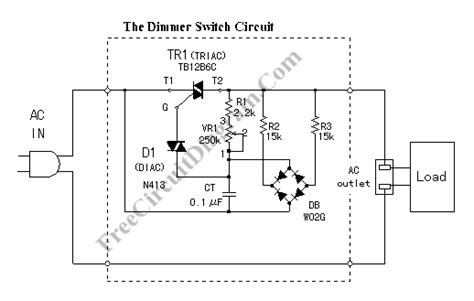 dimmer switch tb12b6c circuit diagram world