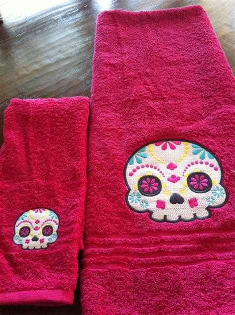 day of the dead bathroom set 25 best ideas about towel set on pinterest hand towel sets red towels and