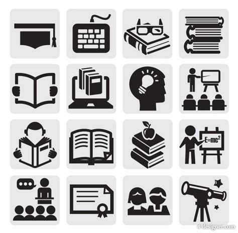 House Design Book Download by 4 Designer Common Black And White Icon Set 23 Vector