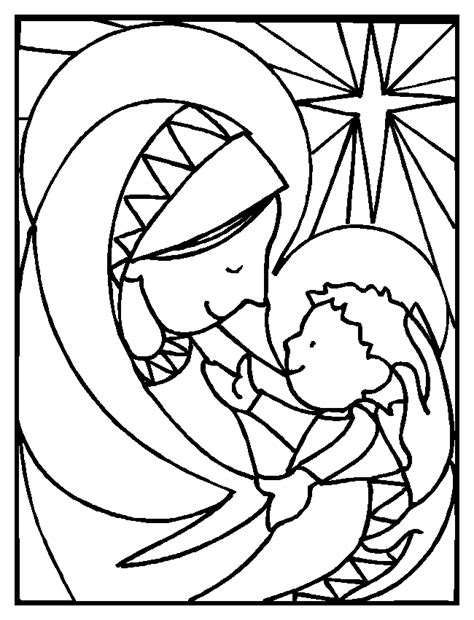 Baby Jesus Coloring Baby Jesus Colouring Pages