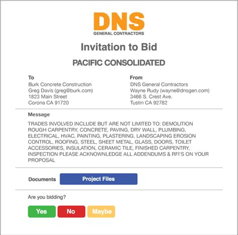 invitation to bid construction template alternate text