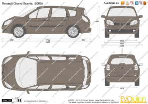 Renault Scenic Dimensions The Blueprints Vector Drawing Renault Grand Scenic