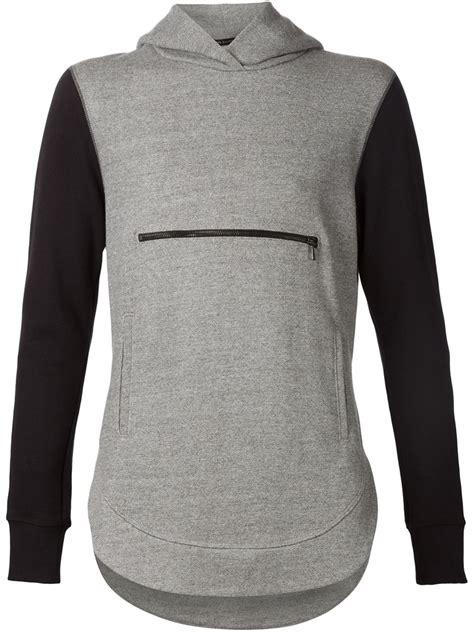Hoodie Zip The Front Of Armament Tfoa 4 Fightmerch elliott front zip pocket hoodie in gray for lyst