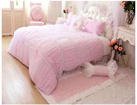 girls luxury bedding pink luxury girls lace ruffle tulle bowtie princess