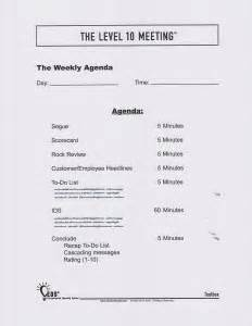 Level 10 Meeting Agenda Template Supercharge Your Weekly Meetings Bluecore Leadership Llc Business Improvement Programs