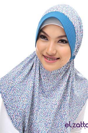 Kerudung Jilbab Bergo Serut M elzatta bergo meidia putih turqistua