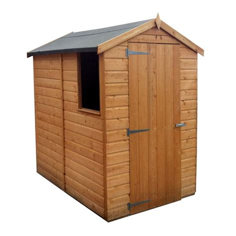 Wooden Shed 6x4 by B Q 6x4 Shiplap Wooden Shed Customer Reviews Product