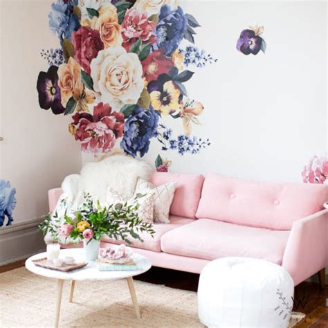 floral wall stickers 17 best ideas about flower wall decals on