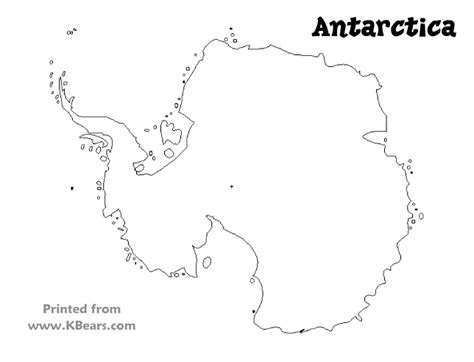 best photos of antarctica outline map printable