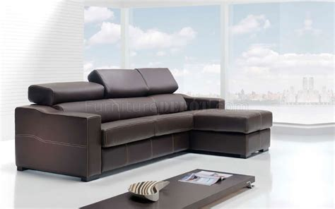 Modern Leather Sectional Sofas Modern Leather Sectional Sofa Lucas Brown
