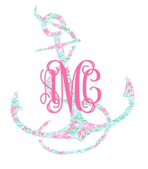 Lilly Pulitzer Monogram Sticker monogrammed lilly pulitzer anchor decal all things lilly