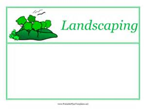 Landscape Templates Landscaping Flyers