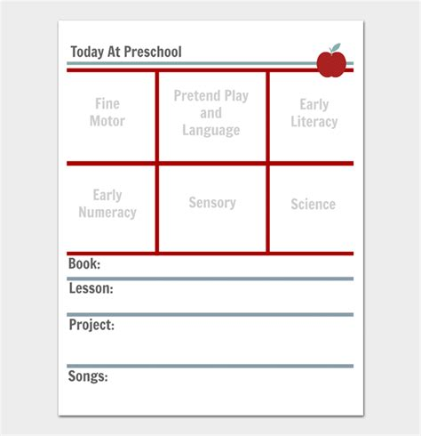 Preschool Lesson Plan Template Daily Weekly Monthly For Word Pdf Preschool Daily Lesson Plan Template
