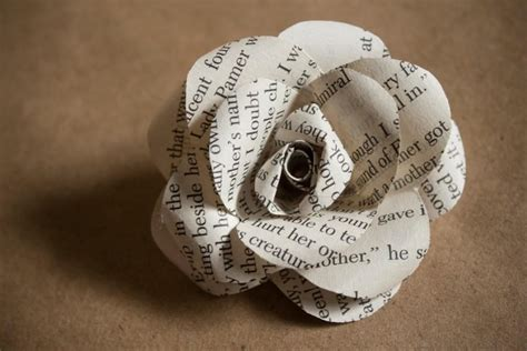 How To Make Paper Flowers From Book Pages - one dozen book page roses 2 quot paper flowers made from
